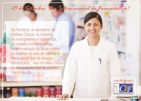 CRF-MT parabeniza profissionais pelo Dia Internacional do Farmacêutico 1
