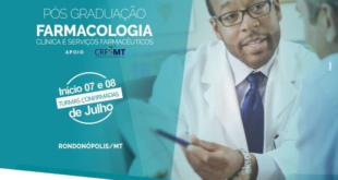 Atenção, Farmacêuticos (as): Dias 7 e 8 de julho, em Rondonópolis, começará uma nova turma de pós-graduação em Farmacologia Clínica, da Arel Iuga, e o Instituto anuncia abertura de outros cursos