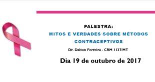 É hoje, no CRF-MT: evento gratuito, aberto ao público, alusivo à Campanha Outubro Rosa