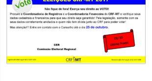 Atenção, Farmacêuticos: data final para envio de arquivo dos eleitores para eleição 2017 no CRF-MT